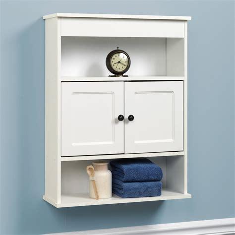 Cabinet Wall Bathroom Storage White Shelf Organizer Over