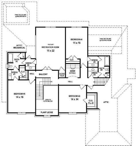 4 bedroom open floor plans 654732 4 bedroom 4 5 bath house with open floor plan house plans floor plans home plans