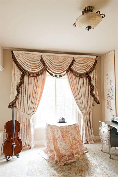 curtains valances and swags peony pavillion swags and tails valance curtain drapes