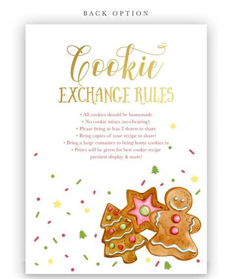 cookie exchange rules cookie exchange invitation sea