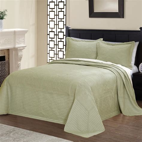 King Quilted Bedspread by American Traditions Tile Quilted King