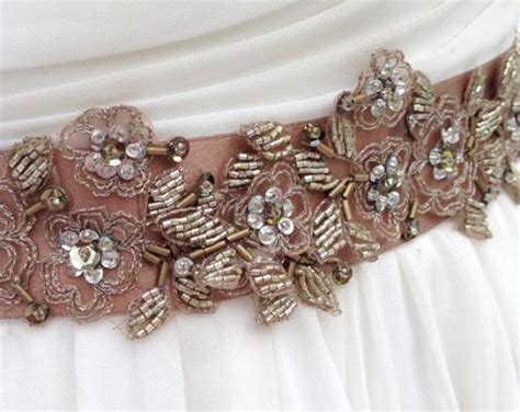 Beaded Lace Bridal Sash In Bronze And Gold, Wedding Dress. Blush Wedding Dresses Perth. Modest Wedding Dresses Wisconsin. Vintage Wedding Dresses Sale Online. Bridesmaid Dresses July Wedding. Blue Wedding Dress Buy. Wedding Dresses 2016 Trends. Beautiful Vintage Wedding Dresses Pinterest. Wedding Dresses 2016 With Sleeves