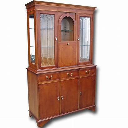 Cabinet Cocktail Reproduction Cabinets Regency Yew Oak