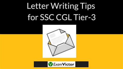 letter writing tips  ssc cgl tier  examvictor