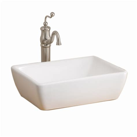 lowes white vessel sink shop cheviot riviera 6 in d white vitreous china