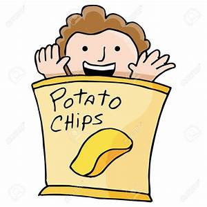 Potato Chips clipart bad food - Pencil and in color potato ...