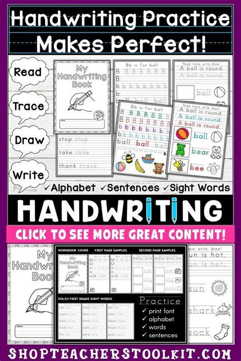 handwriting practice  kindergarten  st worksheets
