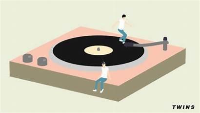 Record Player Turntable Vinyl Animation Records Dj