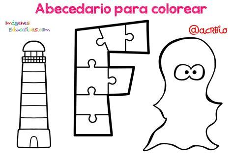 Abecedario para colorear (6) Imagenes Educativas