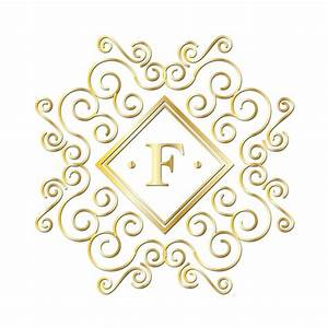letter f gold monogram free stock photo public domain With letter f monogram