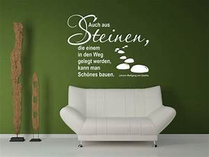 Wandgestaltung Mit Steinen : wandtattoo zitate ~ Markanthonyermac.com Haus und Dekorationen