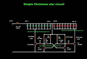 Free Circuit Diagrams 4u  Simple Christmas Star Circuit Diagram