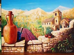 Tableau Trompe L Oeil Paysage : paysage de provence at artiste peintre fresques trompe l 39 oeil dans l 39 yonne 89 ~ Melissatoandfro.com Idées de Décoration