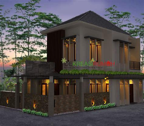 desain fasad rumah minimalis  lantai lahan pojok ide