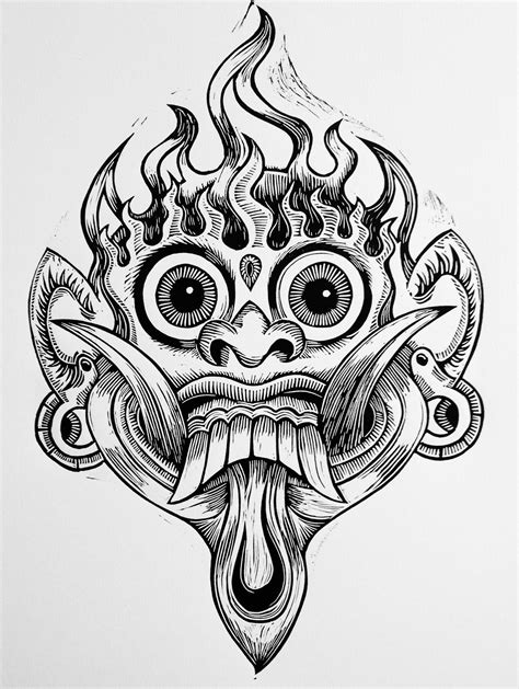 Bali Mask | Linocuts - Linoleogravuras - Máscaras | Pinterest | Masking, Tattoo and Buddha tattoos