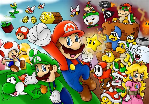 Super Mario Wallpaper By Superlakitu On Deviantart