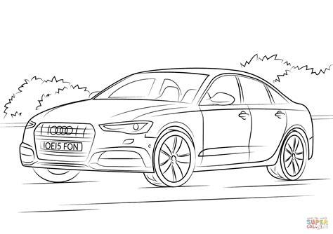Auto Kleurplaat Getund by Coloriage Audi A6 Coloriages Imprimer Gratuits Malvorlage