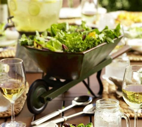 Wheelbarrow Serve Bowl   Pottery Barn   Salads   Pinterest