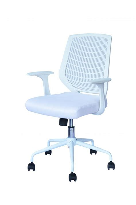 white ergonomic mesh computer office desk task midback