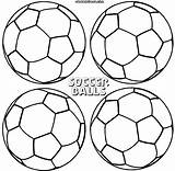 Soccer Ball Coloring Pages Soccerball sketch template