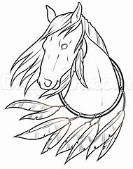 Native American Horse Drawings