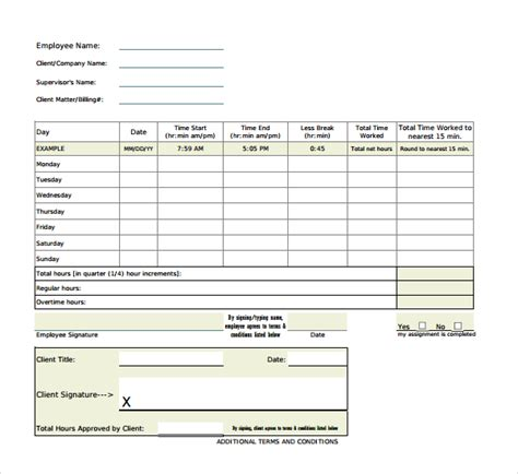 Time Sheet Template For All Employees Word by 19 Overtime Sheet Templates Free Sle Exle Format