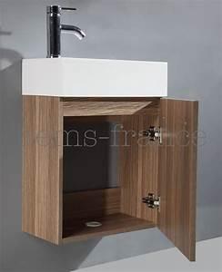 Meuble Salle De Bain Marron : salle de bain meuble galia marron meuble lave main marron 45x25x60 ~ Melissatoandfro.com Idées de Décoration