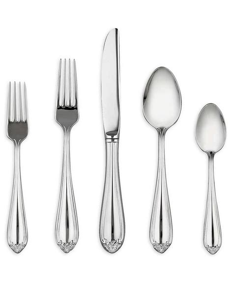 lenox flatware stainless steel bellina silverware place macy collection setting macys pattern dining entertaining patterns discontinued pc www1 oneida cutlery