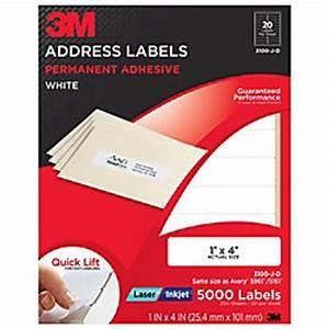 3m white inkjetlaser return address labels 1 x 4 pack of With 3m return address labels