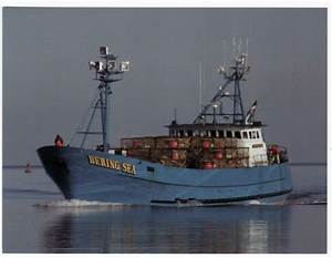 Postcard Bering Sea Crab Fishing Boat From Dutch Harbor ...