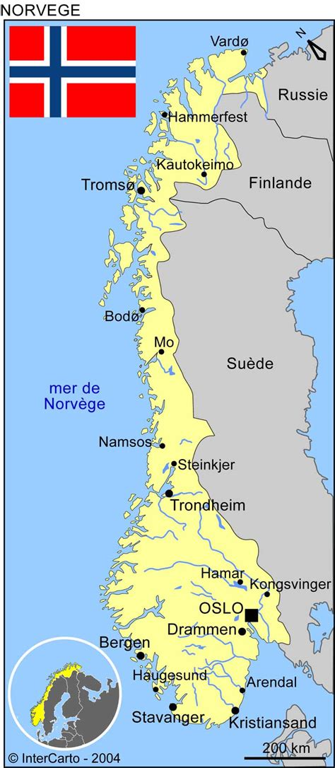 Carte Du Monde Avec Norvege by Carte Norv 232 Ge Carte Du Monde