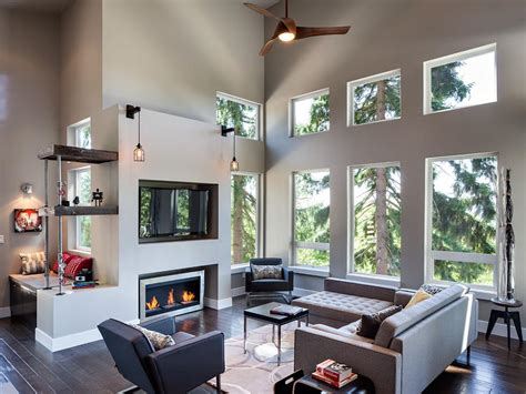 modern living room with fireplace photo page hgtv
