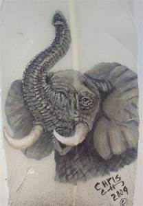 African Elephant trunk up by featherlady on DeviantArt