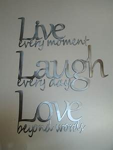 live laugh love metal wall art polished steel With live love laugh wall art