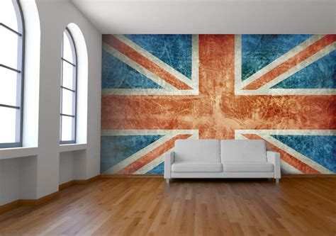 Union Jack Wall Mural - Wallpaper - london - by Wallpapered
