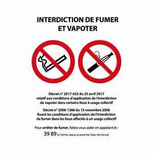 Panneau Interdiction De Fumer : panneau 39 interdiction de fumer et vapoter 39 pvc 150x210mm ~ Melissatoandfro.com Idées de Décoration