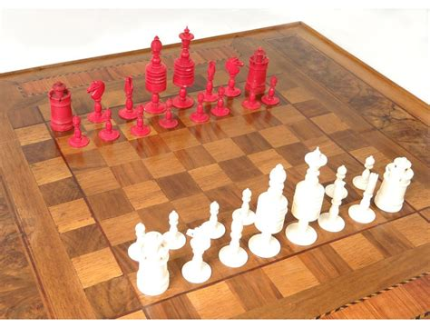 carved chess pieces king queen knight pawn chess xix
