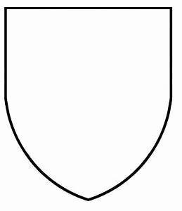blank coat of arms coloring pages With blank shield template printable