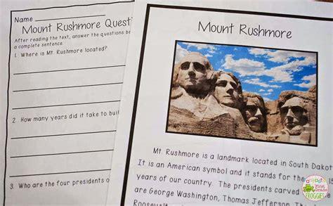 mount rushmore  images fun language arts summer