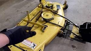 Leveling John Deere Mower Decks