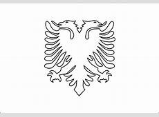 Albania Flag Coloring Page Bltidm
