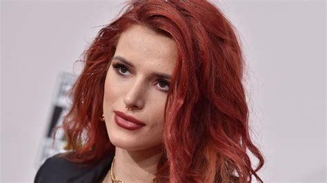 wallpaper bella thorne actress red hair pink dress bed