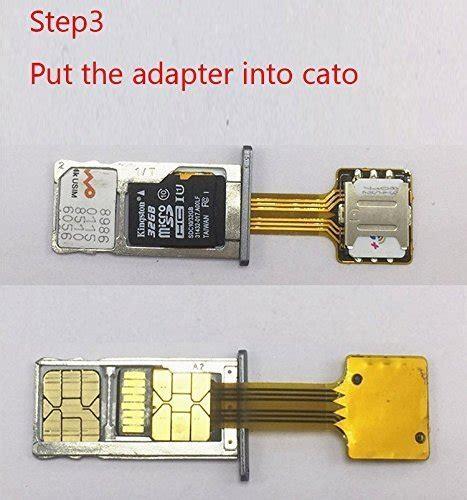 sahoprt hybrid double dual sim card micro adapter