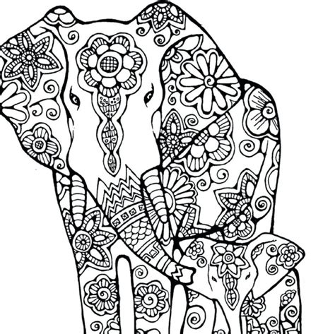 awesome design elephant coloring pages free printable for kids inofations for your design