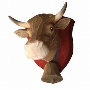 Tete De Vache Deco : d coration murale bois peint t te de vache tarine cusson d coration ~ Melissatoandfro.com Idées de Décoration