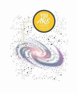 U0026quot You Are Here Milky Way Stars Galaxy Astrology  U0026quot  Poster By