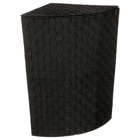 panier a linge noir panier 224 linge d angle 60cm noir