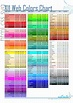 Web Colors Chart – inside the insight