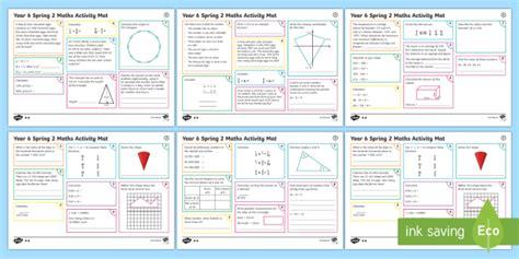 year 6 spring 2 maths revision activity mats year 6 maths activity mats