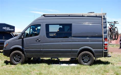 """We've had the privilege to get up close and personal with a this mercedes camper is perfect for the gnarliest off grid adventure and has more than enough. Mercedes Sprinter 144""""WB Campervan Body Flares - Campervan HQ"""